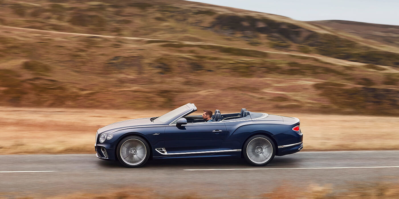 <new-bentley-continental-gt-speed-convertible-in-peacock-blue-profile-in-peak-district>
